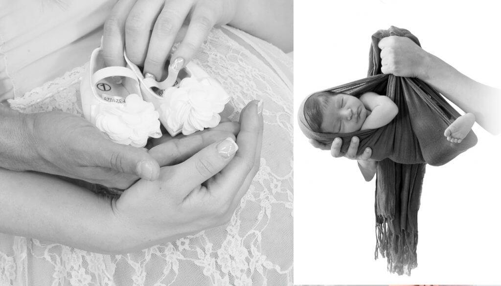 צילום ניו בורן והריון בשחור לבן